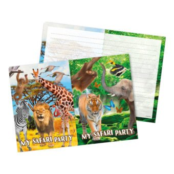Inbjudningskort Safari Party - 8-pack