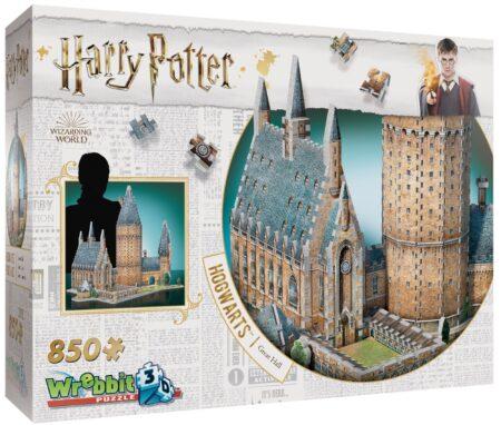 Harry Potter 3D-pussel Stora Salen Hogwarts 850 bitar