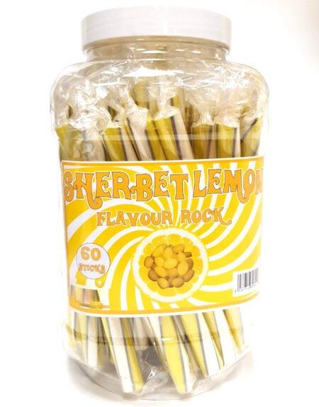 60 stk Rock Stick Godisstänger med Sorbet Citronsmak