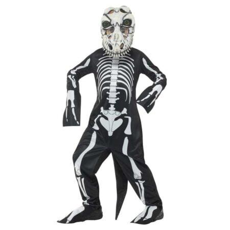 Barndräkt, T-rex-skelett -L