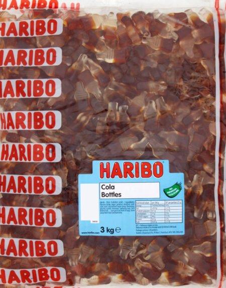 Haribo Cola Bottles - 3 kg Påse med Vingummi Flaskor