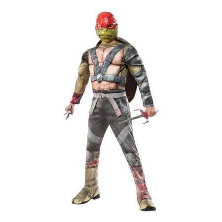 TMNT Raphael med Dolkar Deluxe Barn Maskeraddräkt - Medium