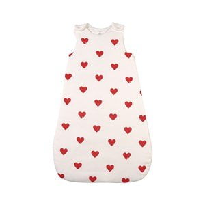 Petit Bateau Heart Print Sleeping Bag White 2 (12-24 months)