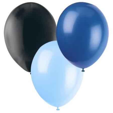 Ballonger Svart, Ljusblå, Blå