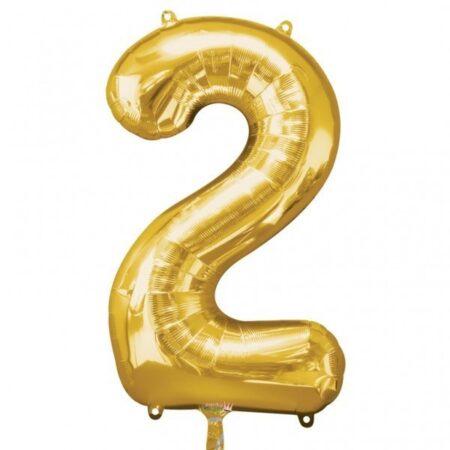 Folieballong Siffror Guld, 86 cm - 2