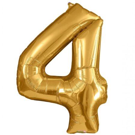 Folieballong Siffror Guld, 86 cm - 4