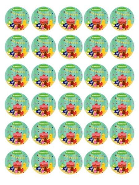 Muffinsbilder Babblarna Kalas