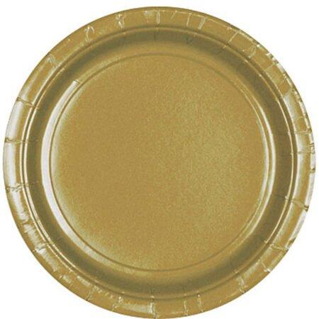 Papperstallrikar Guld