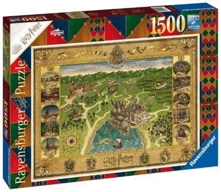Ravensburger Pussel Harry Potter: Hogwarts Karta 1500 Bitar