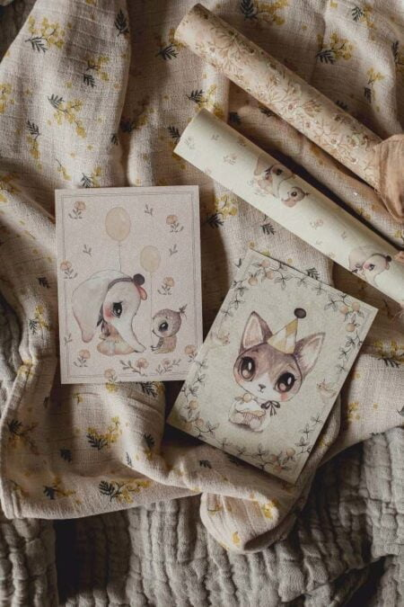 Mrs Mighetto Inbjudningskort, Ellie and Meow