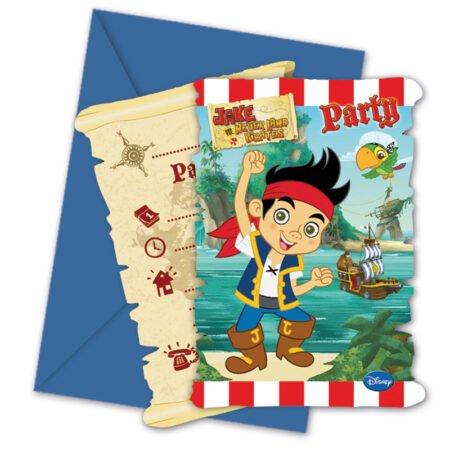 Jake och Piraterna Inbjudningskort