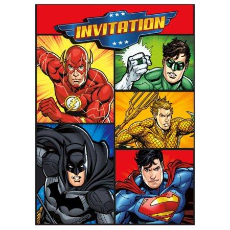 Justice League Inbjudningskort