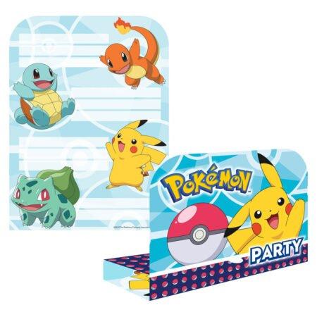 Pokemon Inbjudnings Kort med Kuvert