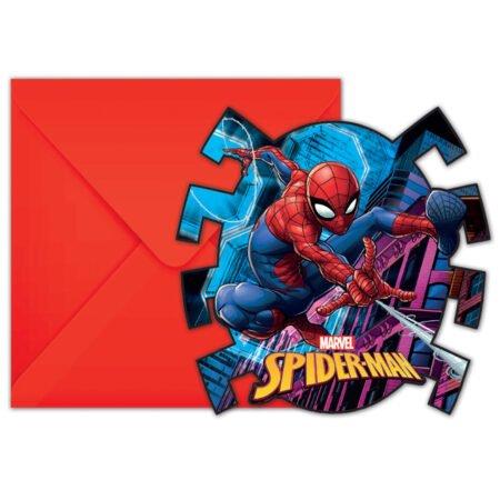 Spiderman Team Up Inbjudningskort