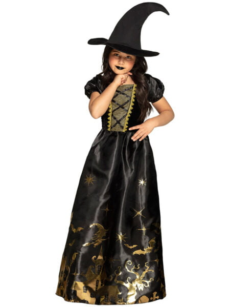 Spooky Witch Maskeraddräkt Barn