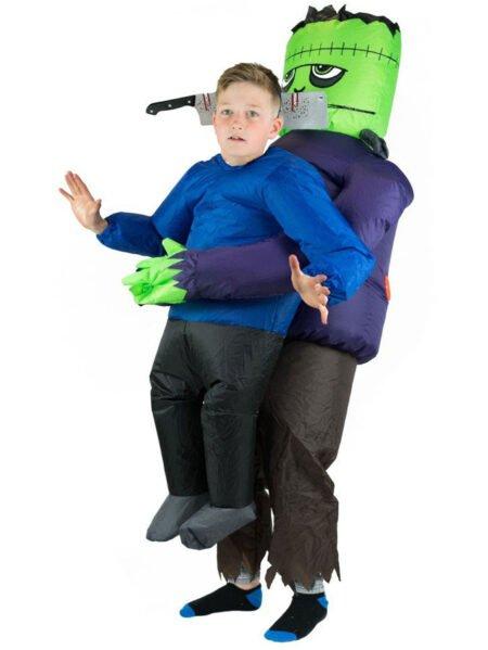 Uppblåsbar Frankenstein Dräkt Barn
