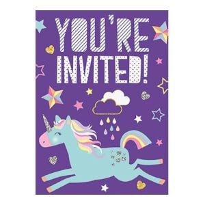 Inbjudningskort med Unicorn